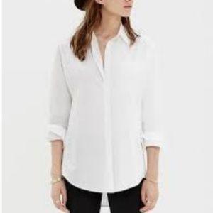 Madewell Over Sized Clip Dot Messenger Shirt
